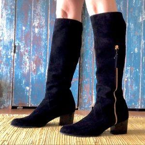 Stuart Weitzman Tassmid Suede Knee High Boots 9.5